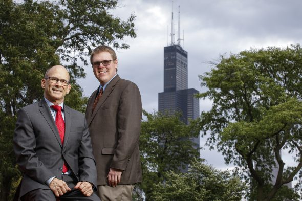 UIC College of Engineering professors Ken Brezinski and Patrick Lynch