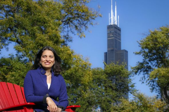 University of Illinois Chicago Break Through Tech Director Amita Shetty at the College of Engineering in Chicago