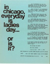 Flyer from the National Organization of Women Chicago Chapter
