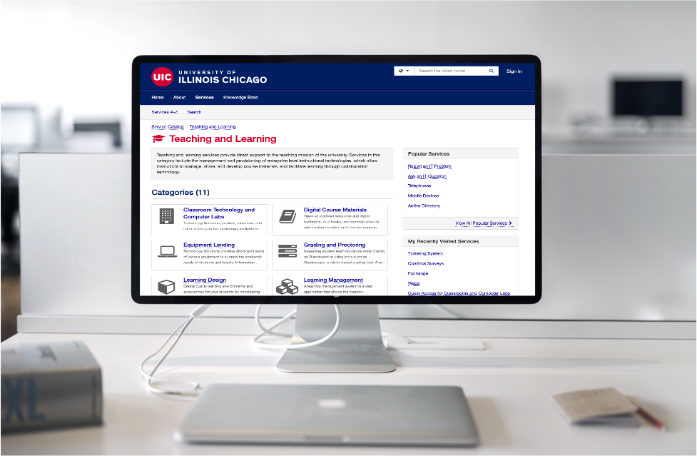 Get educational technologies support, answers at UIC Help Center