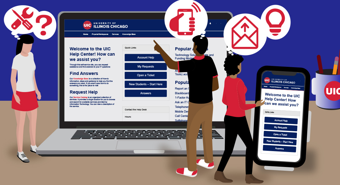 UIC Help Center, Unified IT Website launching this Monday