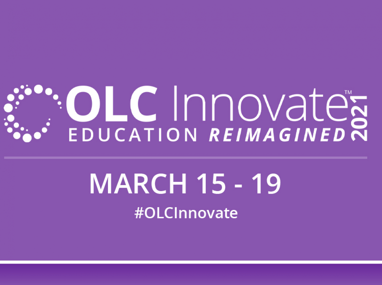 OLC Innovate 2021 - Online Learning Consortium