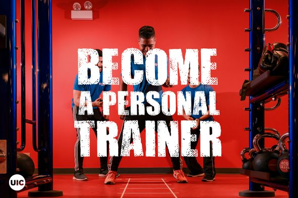 """Text says """"Become a Personal Trainer"""""""