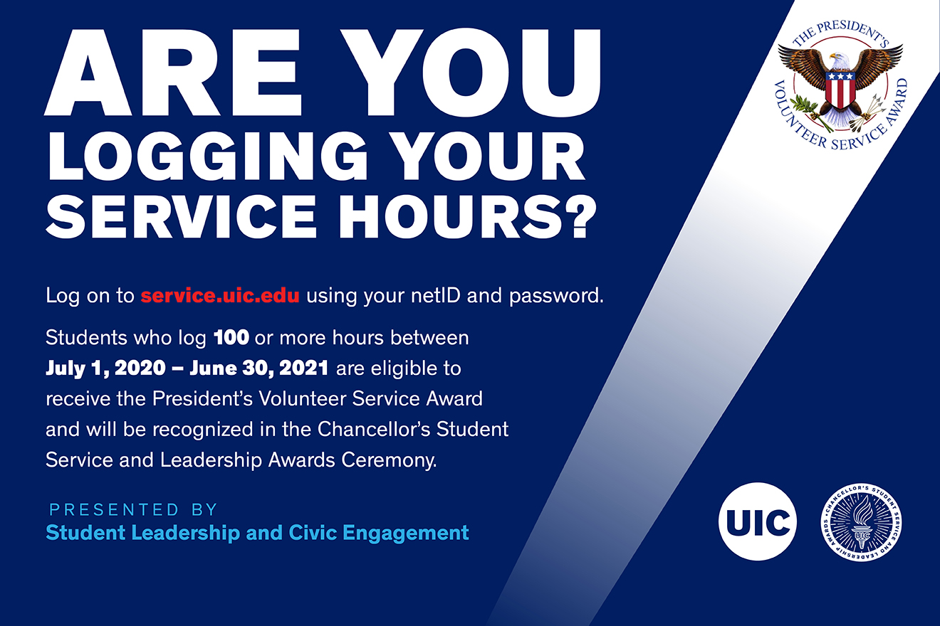Log your service hours