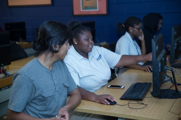 2019 UIC CHANCE program students during class time.