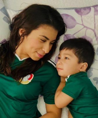 Cindy Noguera and her son, Daniel.