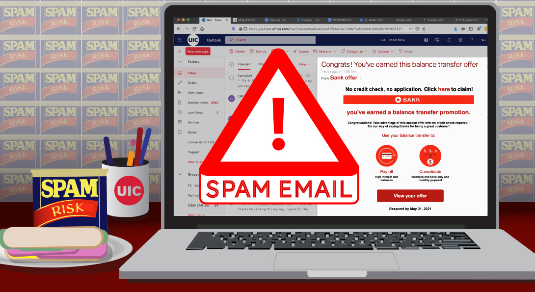 New spam filters in UIC email help reduce phishing attempts
