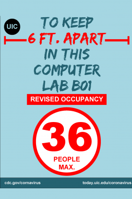 Computer lab occupancy sign - Centrally managed computer labs