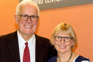 Dr. Steven Irwin and his wife Kathleen Irwin for whom an endowed chair will be named.
