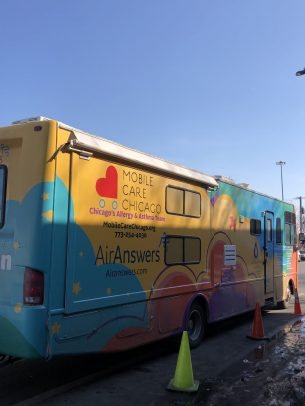 """Mobile Care Chicago's """"Asthma Vans"""" travel to CPS schools."""