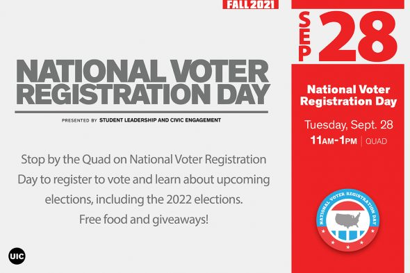 """Text says """"National Voter Registration Day"""""""