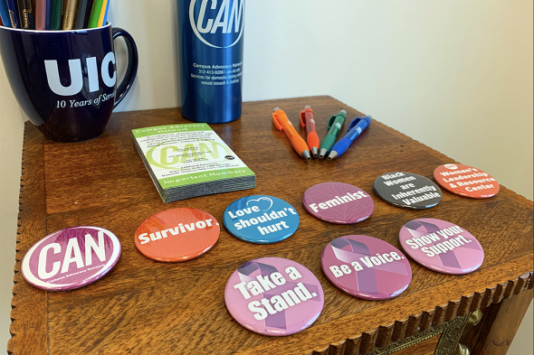 WLRC and CAN promotional materials displayed on a wooden table